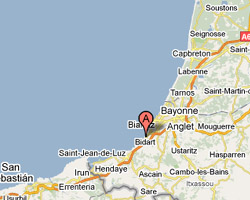 location vacances vue mer Bidart