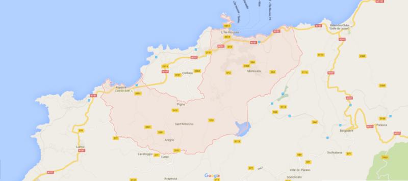Location voiture île rousse
