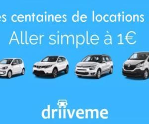 DriiveMe, location à 1€ en aller simple