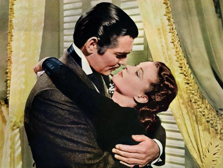 Clark Gable e Vivien Leigh in Via col vento (1939)