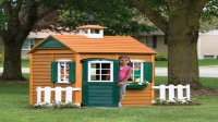 Outdoor Wooden Playhouse With Slide  Loccie Better Homes ...