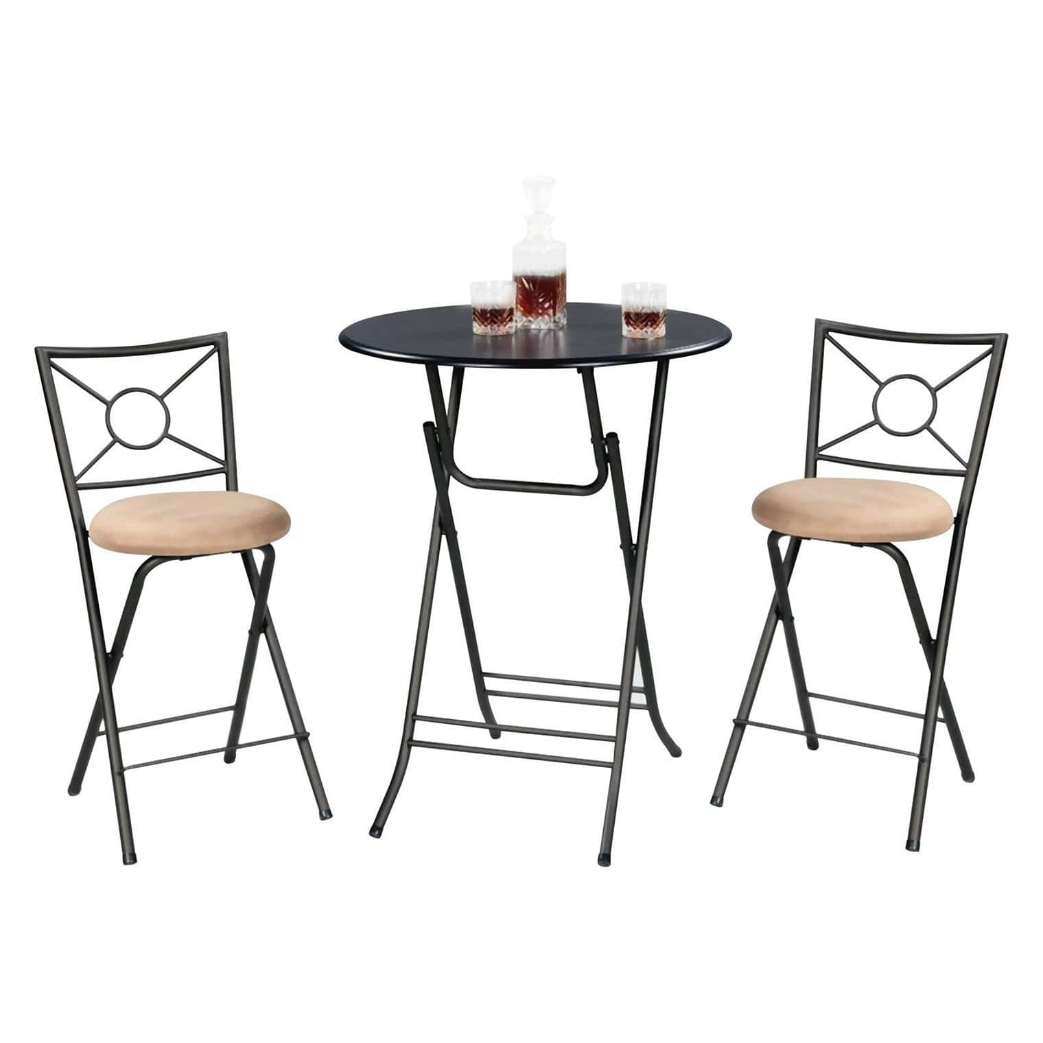 Bar Height Folding Table Set  Loccie Better Homes Gardens