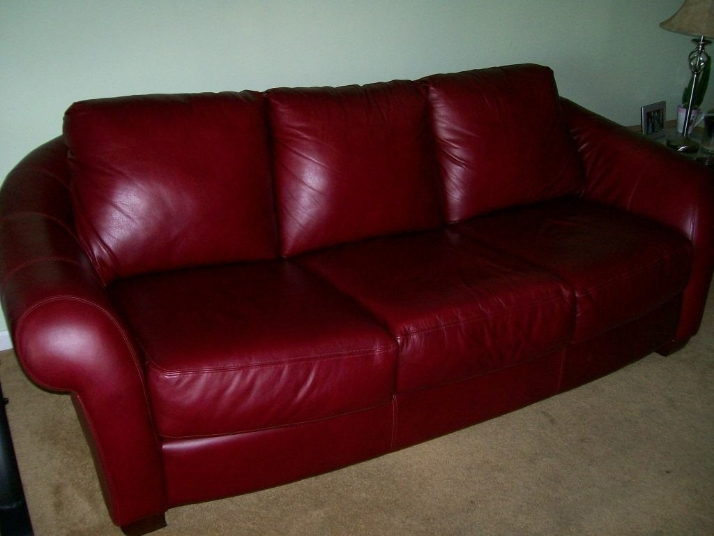 Burgundy Leather Sofa Bed  Loccie Better Homes Gardens Ideas