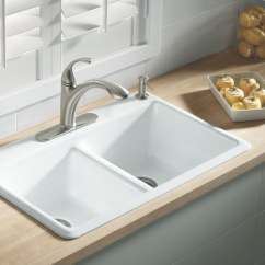 Colored Kitchen Sinks Nook Seating Cast Iron Color  Loccie Better Homes