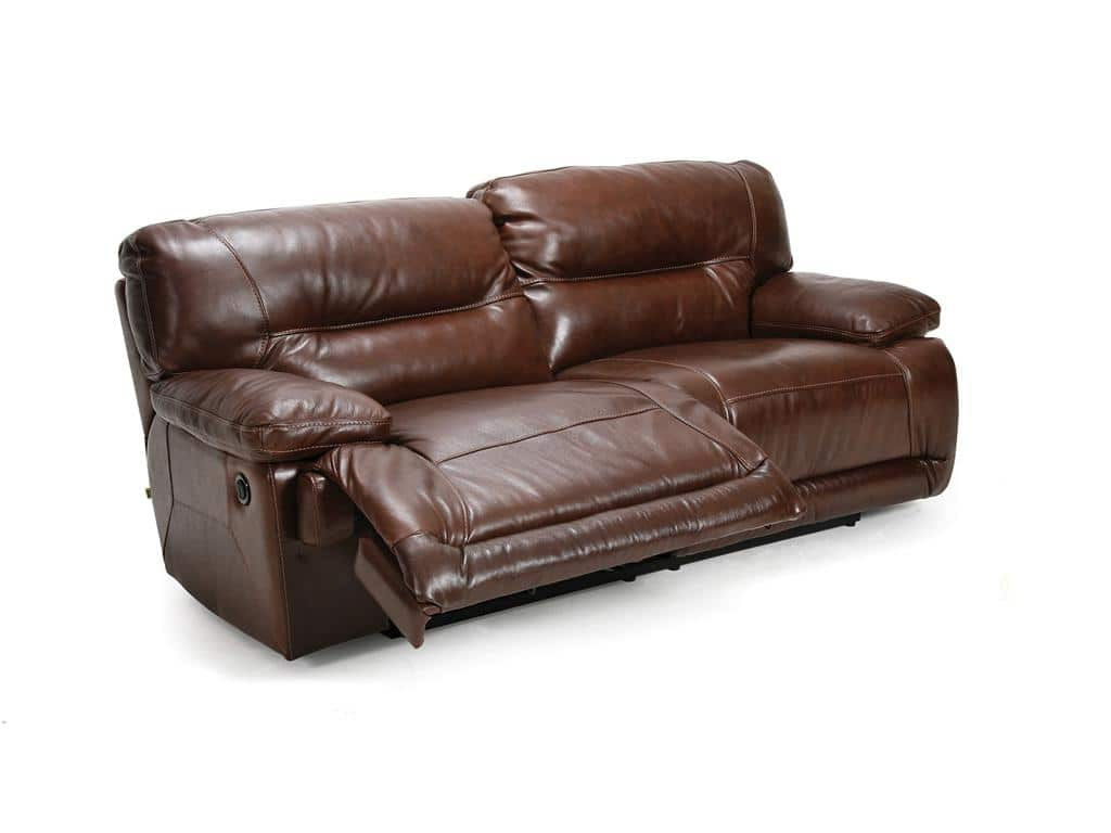 discounted leather sofas flip open sofa disney recliner with console  loccie better homes