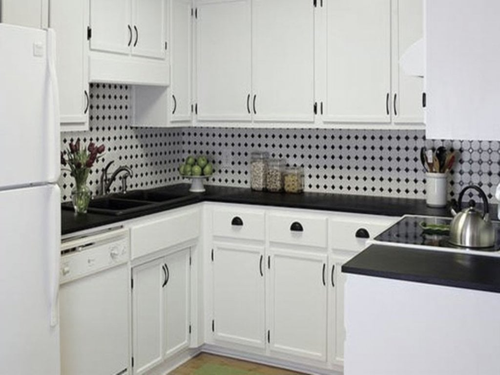 black and white tile kitchen backsplash slate floor design  loccie