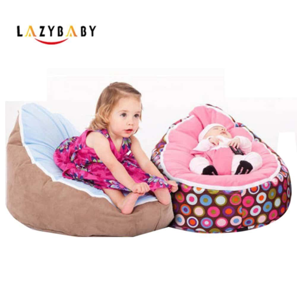 bean bag chair for toddler velvet lounge with ottoman lazybaby medium baby kid bed sleeping danger