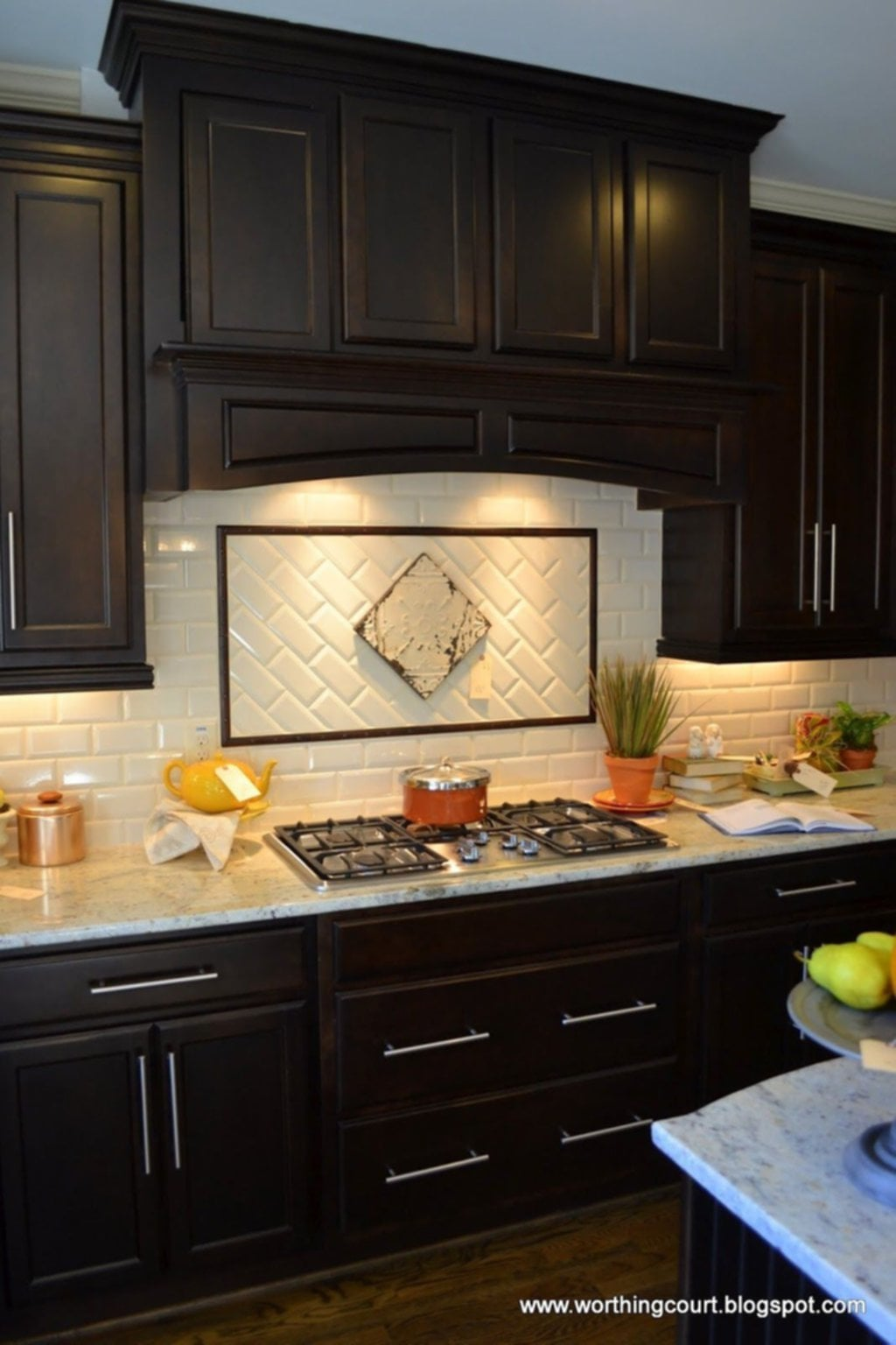 contemporary kitchen backsplash glass cabinet doors ideas for with dark cabinets  loccie