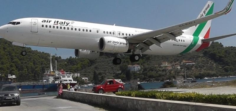 Skiathos, Grecia aeroport