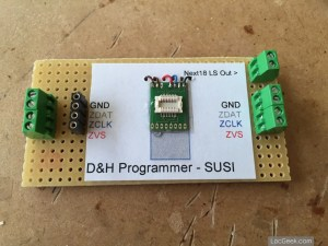 Doehler & Haass SD18A in review: custom SUSI programming board