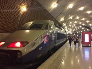 TGV en gare de Monaco
