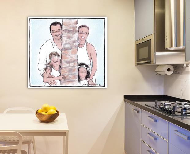 stampe su tela la cucina