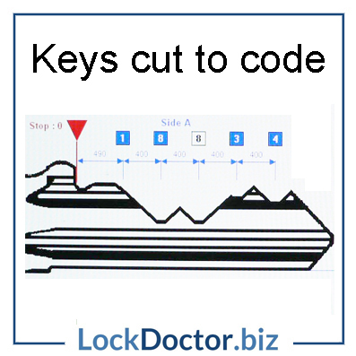 Keys cut to your code  Lock Doctor