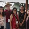 L-R: Irisa Zhang, Stuart Walthall, Eileen Leung, Gabriela Leon Cerriteno and Leticia Hall. Presentation of Locke Foundation Scholarships. Photo courtesy of Joe Chan.