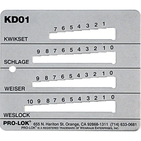ProLok Kwikset Schlage Weiser Weslock Key Decoder Tool  KD01