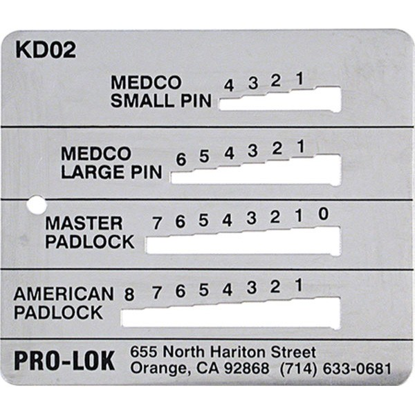 ProLok Medco Master American Padlock Decoder  KD02