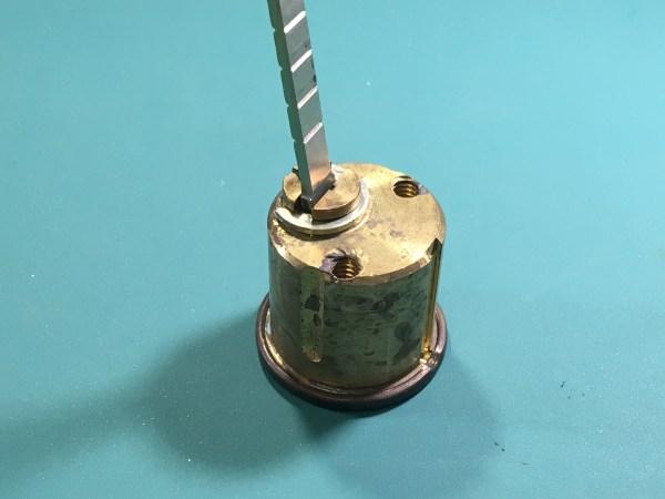 The back of a rim cylinder.