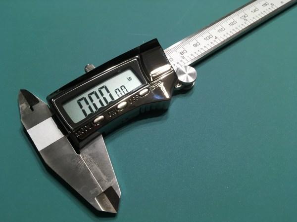 Digital calipers.