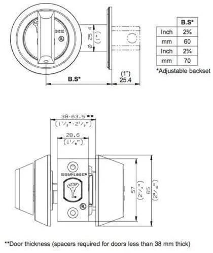 Mul-t-lock MT5+ Hercular Double Cylinder Captive key