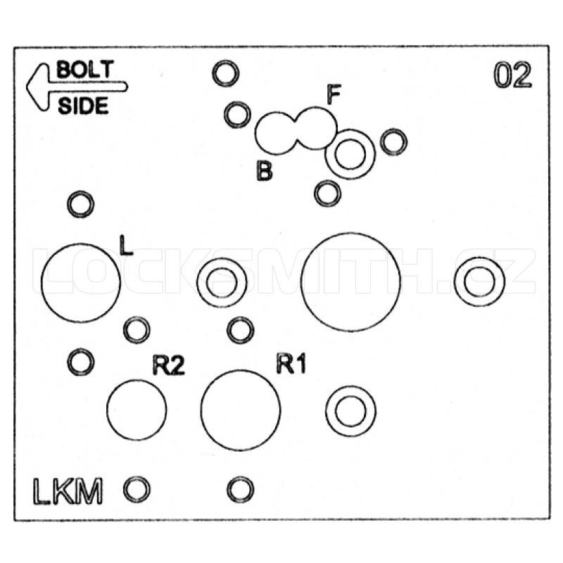 Mechanical Lock Drill Template, S&G, Ilco, LaGard