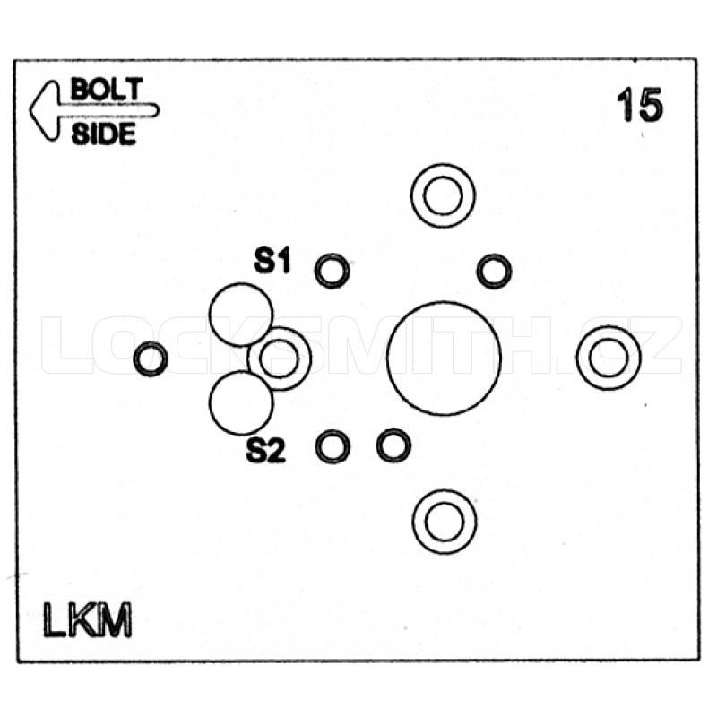 Electronic Lock Template, LaGard Swingbolt V2, SGZ02