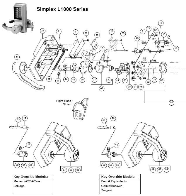Simplex L1000 Series Parts