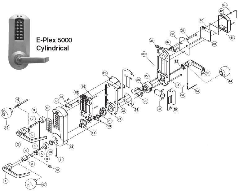 E-Plex 5031 Parts: Assured Lock Keyless & Locker Lock