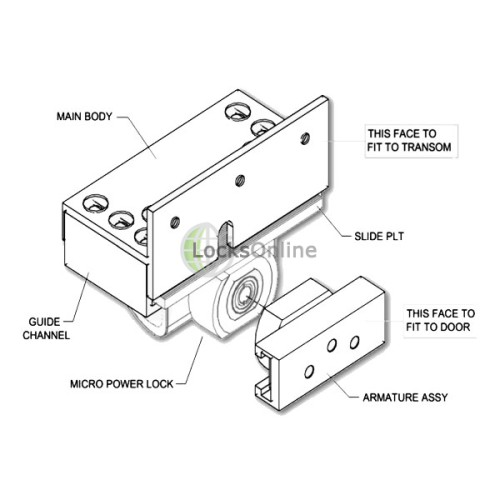 Buy Micro-Mag Mini Maglock Kit for Outward Opening Doors