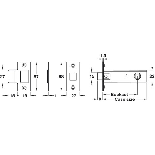 Buy Contract Aluminium Handle Set with Latch & Hinges