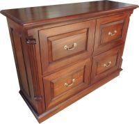DEEP 4 Drawer Mahogany Filing Cabinet