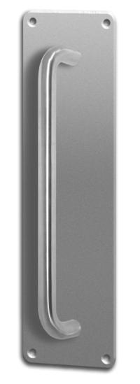 Asec Screw Fix Pull Door Handle on Plate Stainless Steel ...