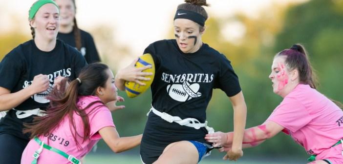 Football: Woodgrove Seniors, Juniors Tango in Powder Puff