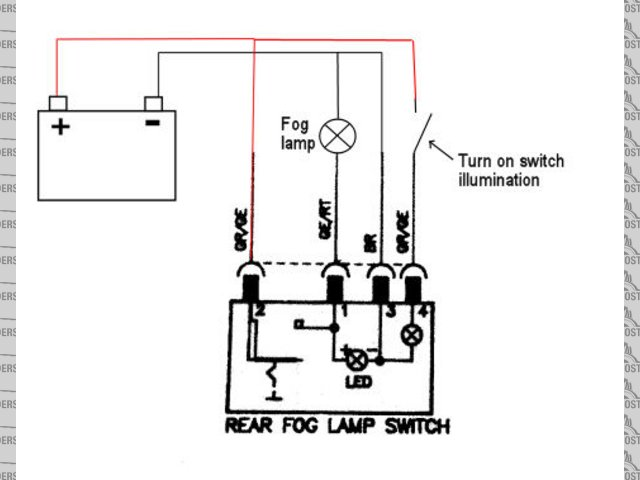 Ford fog light switch wiring