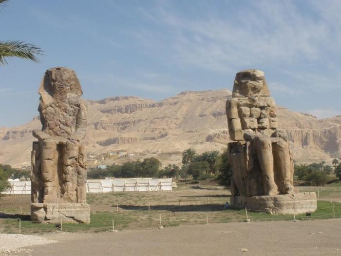 Egipto: Colosos de Memnon