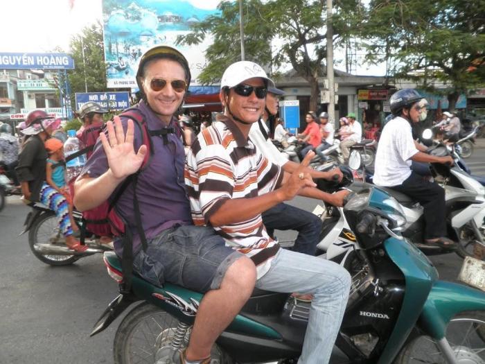 En moto en Hue