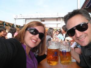 """Tomando una """"cervecita"""" en el Oktoberfest"""