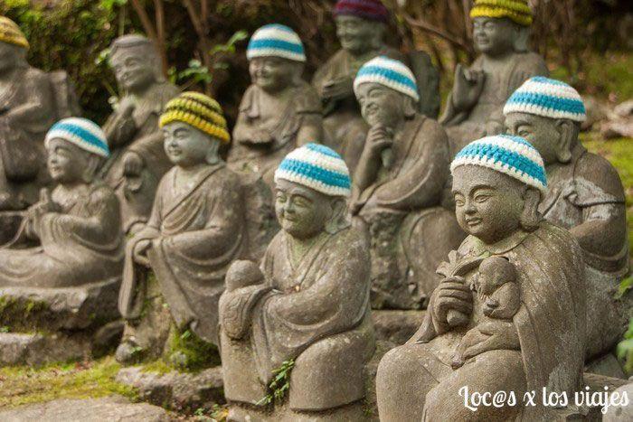 Jizos en el templo Daishoin de Miyajima
