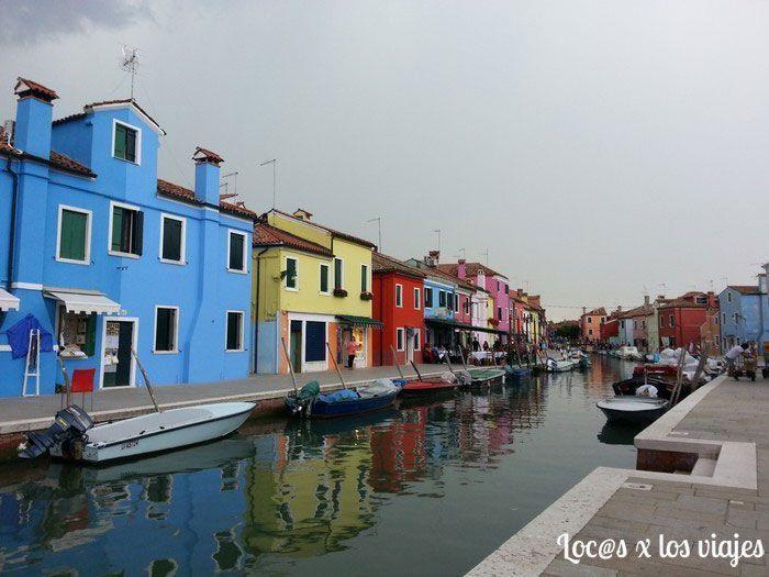 Isla de Burano, en Venecia