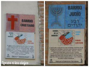 Carteles recordando los tres barrios que llegó a tener Alcalá de Henares