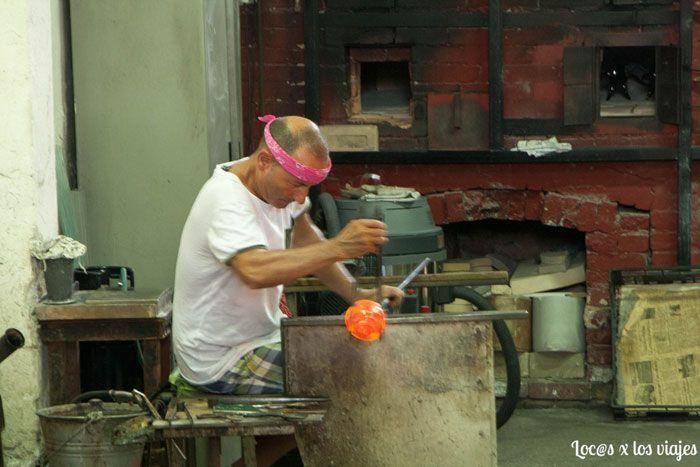 Trabajando el cristal de Murano