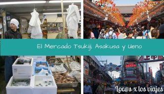 El Mercado de Pescado de Tokio, Asakusa y Ueno