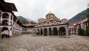 Monasterio de Rila con niños