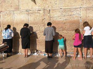 Israel con niños: En el Muro de las Lamentaciones