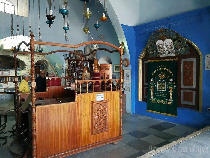 Israel con niños: Sinagoga en Safed
