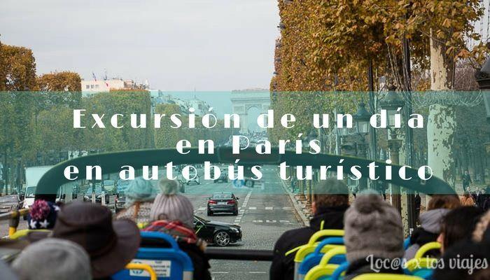 Recorriendo París en autobús turístico