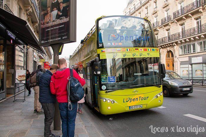 Recorriendo París en autobús turístico de Pariscityvision