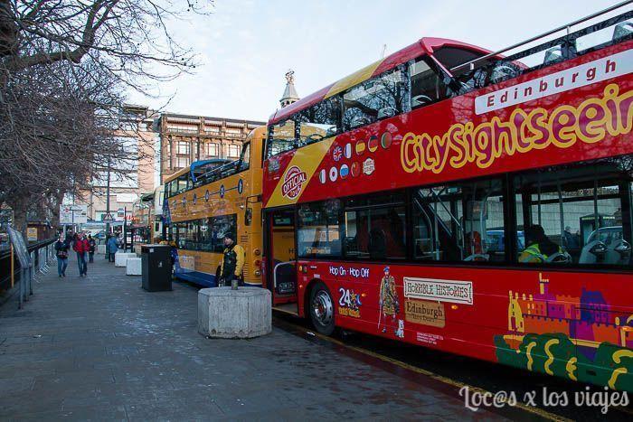 Edimburgo con niños: autobuses turísticos