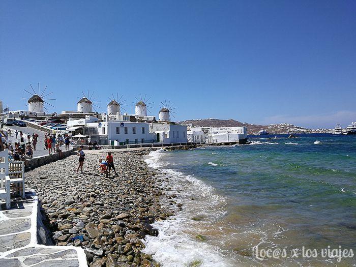 Grecia: Molinos de Mikonos