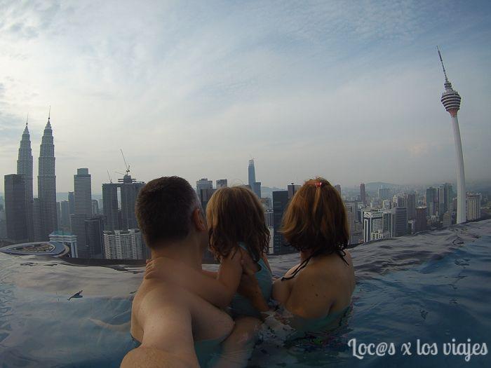 En nuestro apartamento de Airbnb en Kuala Lumpur
