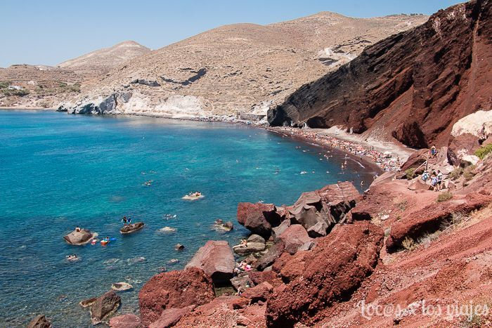 Santorini: Red Beach